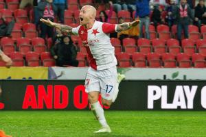 Ve finále Mol Cupu jsou fotbalisté Slavie Praha, kteří v semifinale porazili Boleslav 2:0