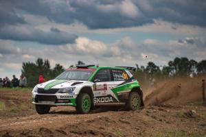Polská rally: Tidemand z týmu ŠKODA Motorsport zvětšil svůj náskok ve vedení WRC 2