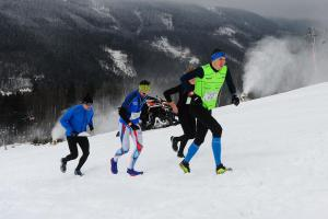 Na Dolní Moravě se běželo zase až do oblak ovšem zimě,  za větru a ve sněhu