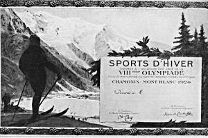 Plakát a medaile pro ZOH v roce 1924
