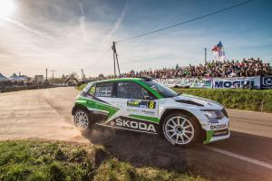 Na Rallye Šumava Klatovy skončily obě škodovácké posádky na stupních vítězů
