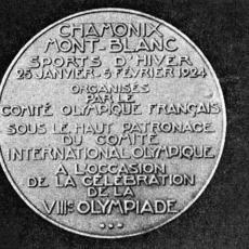 Medaile ZOH 1924 - zadní strana